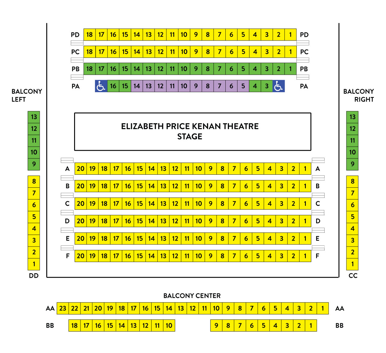 Kenan Seating Chart – alley style