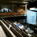 Visitors get a peek into the tech rehearsal for Temples of Lung and Air