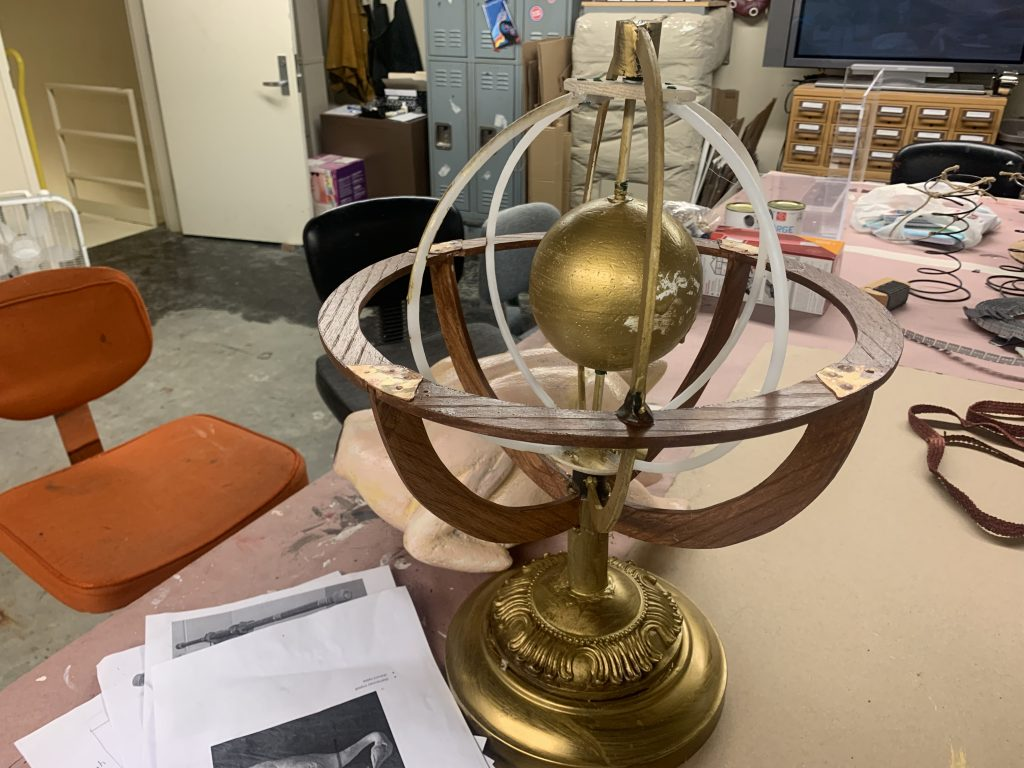 Our props team has been hard at work building this armillary sphere from scratch!