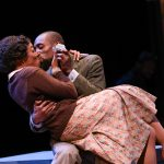 "April Mae Davis as Bessie and Brandon Herman St. Clair Haynes as Bigger Thomas in Nambi E. Kelley's ""Native Son"" at PlayMakers Repertory Company. (HuthPhoto)"