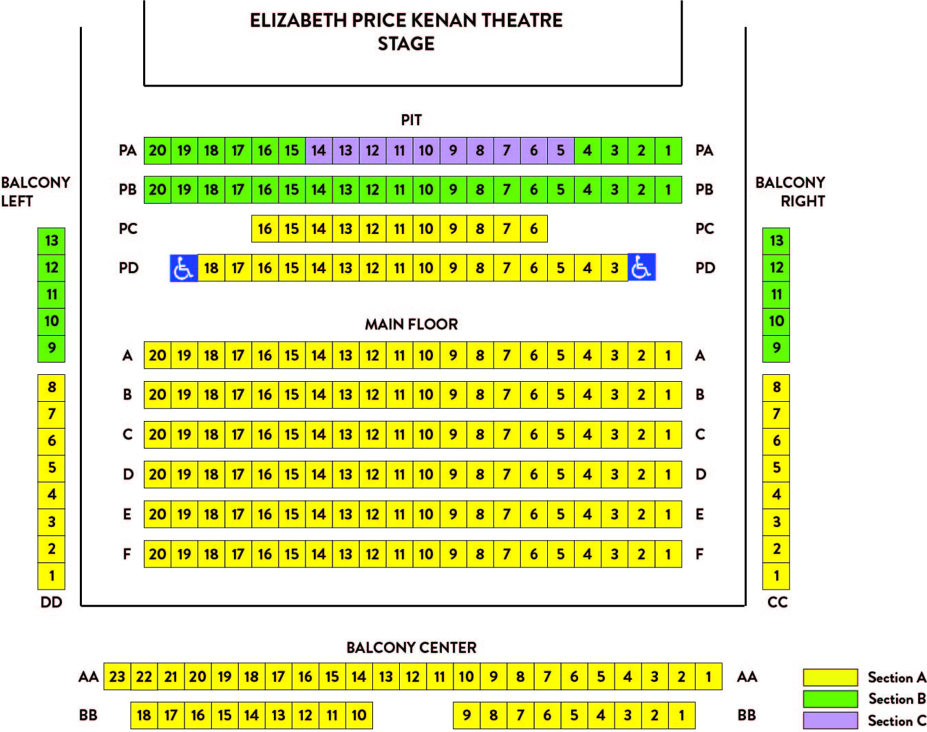 Kenan Seating Chart