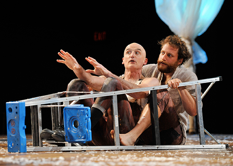 A different condition of life, with Ray Dooley as Puck and Zack Fine as Oberon in PlayMakers Repertory company's production of A MIDSUMMER NIGHT'S DREAM. (Jon Gardiner)
