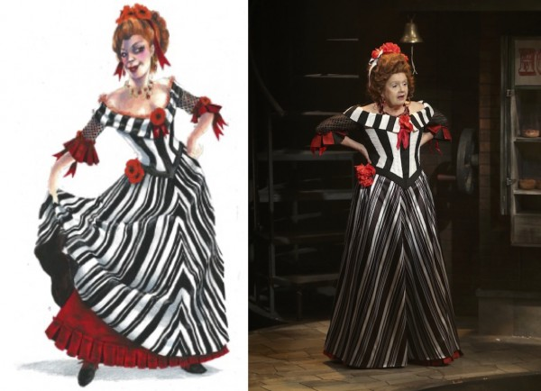 Sweeney Todd Preliminary sketches.Lovett-2