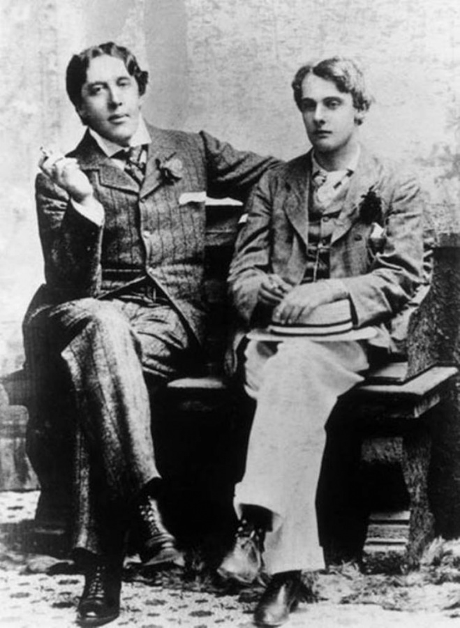 Oscar and Bosie at Oxford, probably taken in May 1893 when Douglas was in his last year and Wilde went up on a long visit. Photo by Gillman & Co.