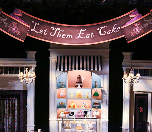 """The Cake"" by Bekah Brunstetter at PlayMakers Repertory Company. Set by Jan Chambers. Lighting by Burke Brown. Photo by HuthPhoto."