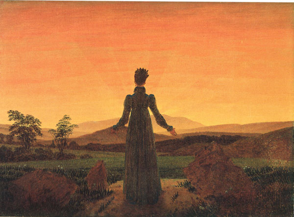 Caspar David Friedrich, Woman before the Rising Sun (1818).