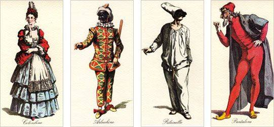 repertory stock characters from Commedia dell'Arte