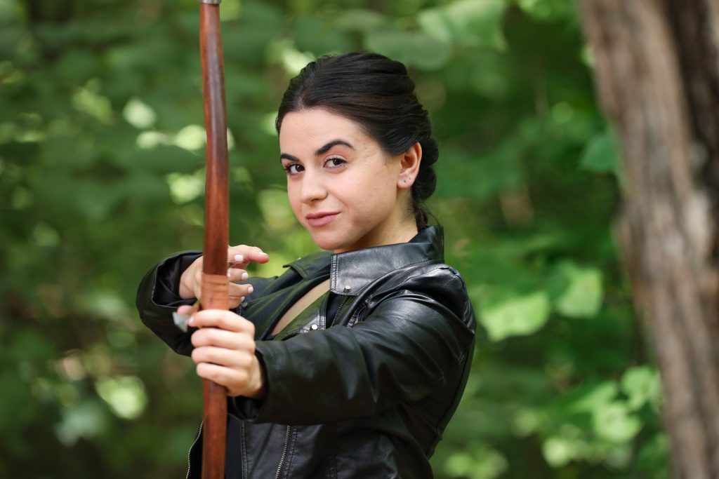 Christine Mirzayan as Maid Marian. Photo by HuthPhoto.