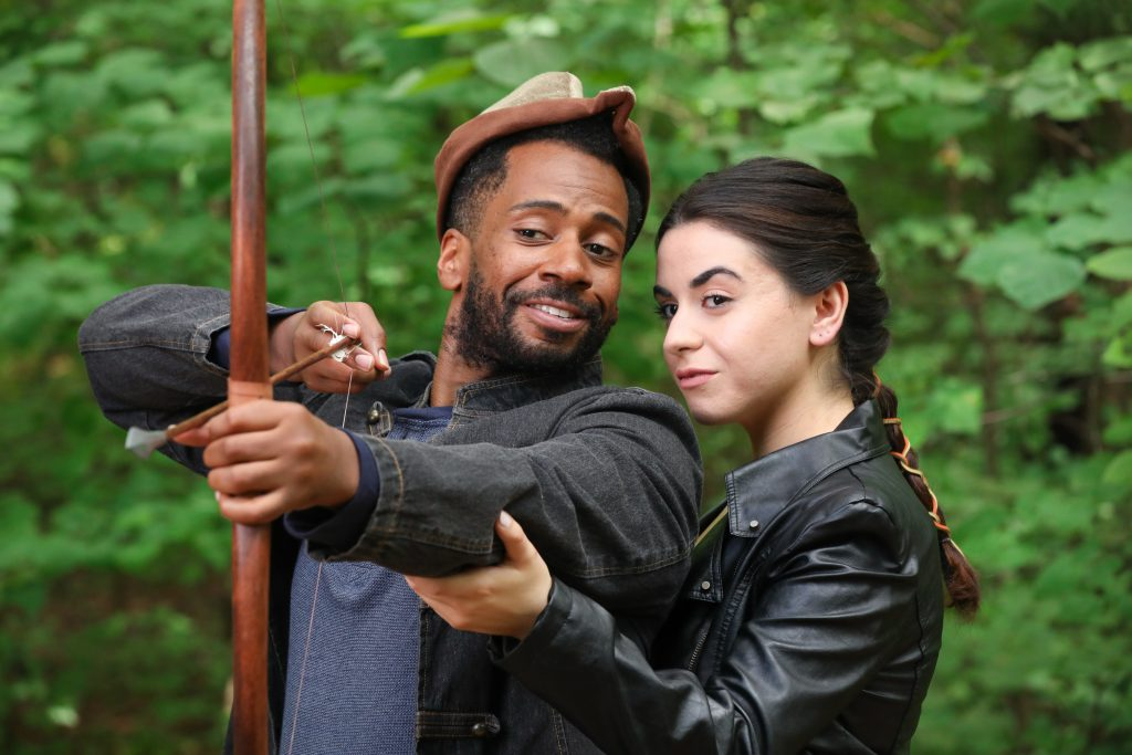 Joshua David Robinson as Robin Hood and Christine Mirzayan as Maid Marian. Photo by HuthPhoto.