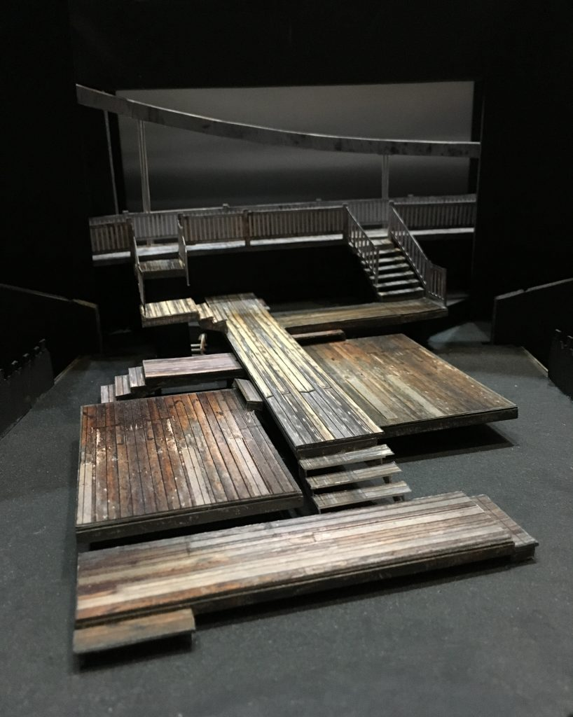 Scale model of Alexis Distler's scenic design for Charly Evon Simpson's 'Jump' at PlayMakers.