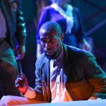 """Brandon Herman St. Clair Haynes as Bigger Thomas in Nambi E. Kelley's """"Native Son"""" at PlayMakers Repertory Company. (HuthPhoto)"""