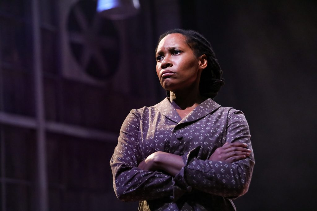 "Tia James as Hannah in Nambi E. Kelley's ""Native Son"" at PlayMakers Repertory Company. (HuthPhoto)"