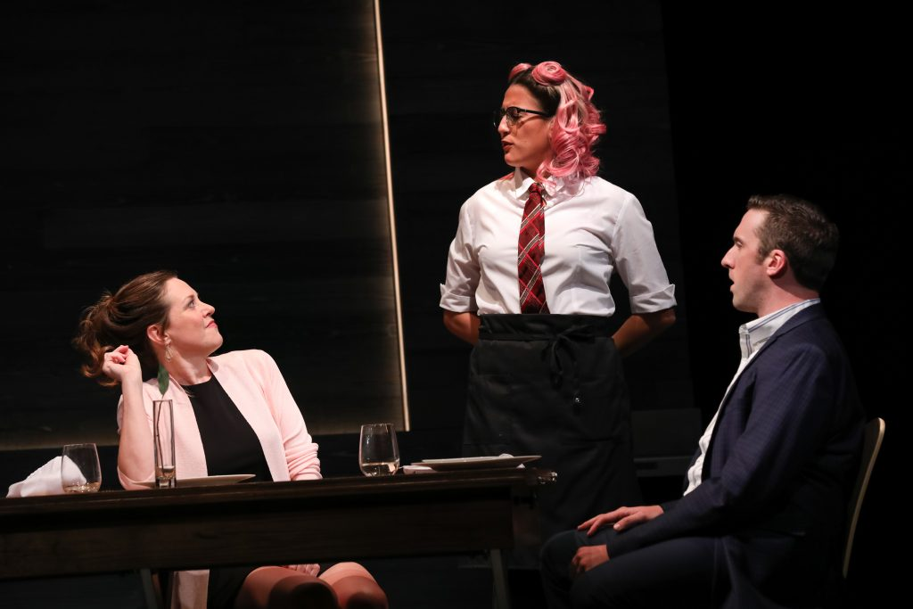 02_Claire Karpen as Allie, Emily Bosco as a server, and Dan Toot as Jonathan in DAIRYLAND by Heidi Armbruster_Directed by Vivienne Benesch_HuthPhoto
