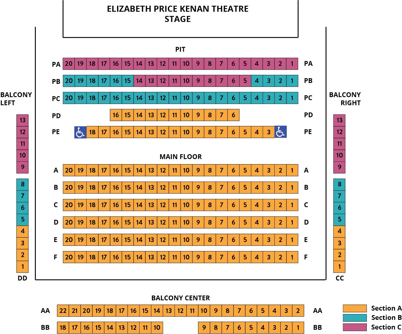 Kenan Seating Chart – Songs of Holiday Cheer