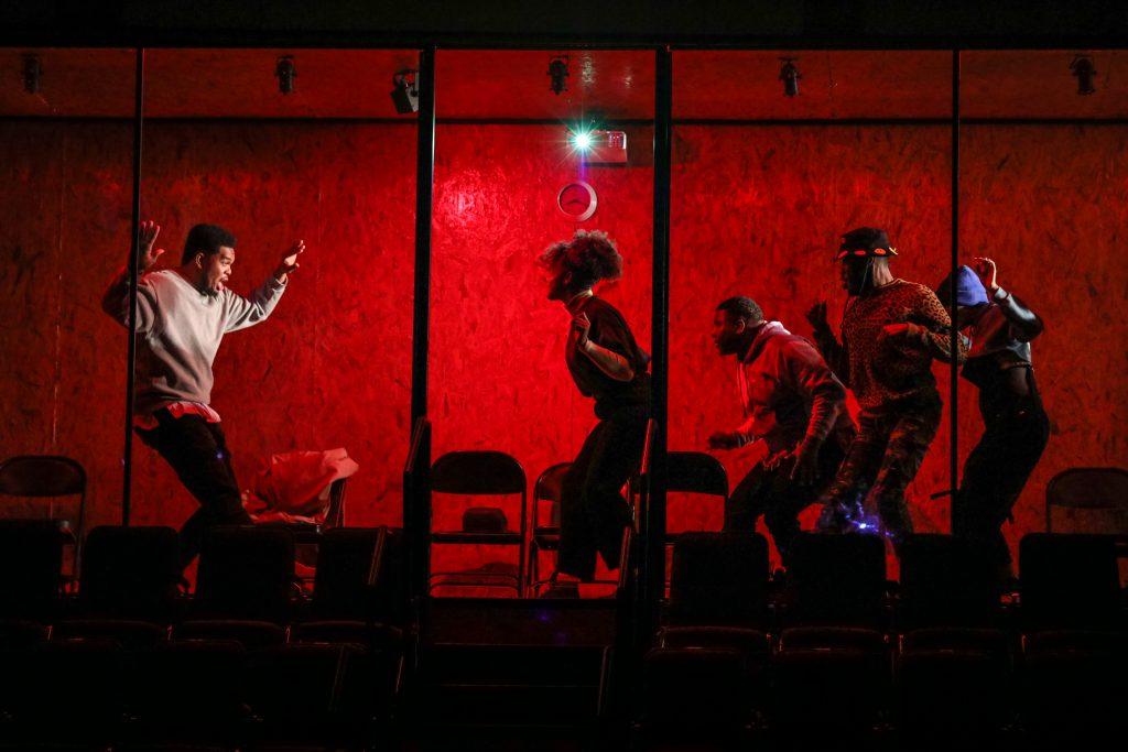 06_Fergie L. Philippe as Coalhouse with Liz Howard, Tyrone Kiaku, Tristan Parks, Faith Jones in RAGTIME_Directed by Zi Alikhan_HuthPhoto