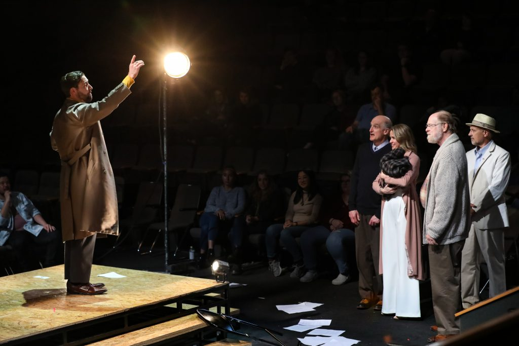 14_Adam Poole as Tateh with Ray Dooley as Little Boy, Lauren Kennedy as Mother, David Adamson as Grandfather, Jeffrey Blair Cornell as Father in RAGTIME at PlayMakers_Directed by Zi Alikhan_HuthPhoto