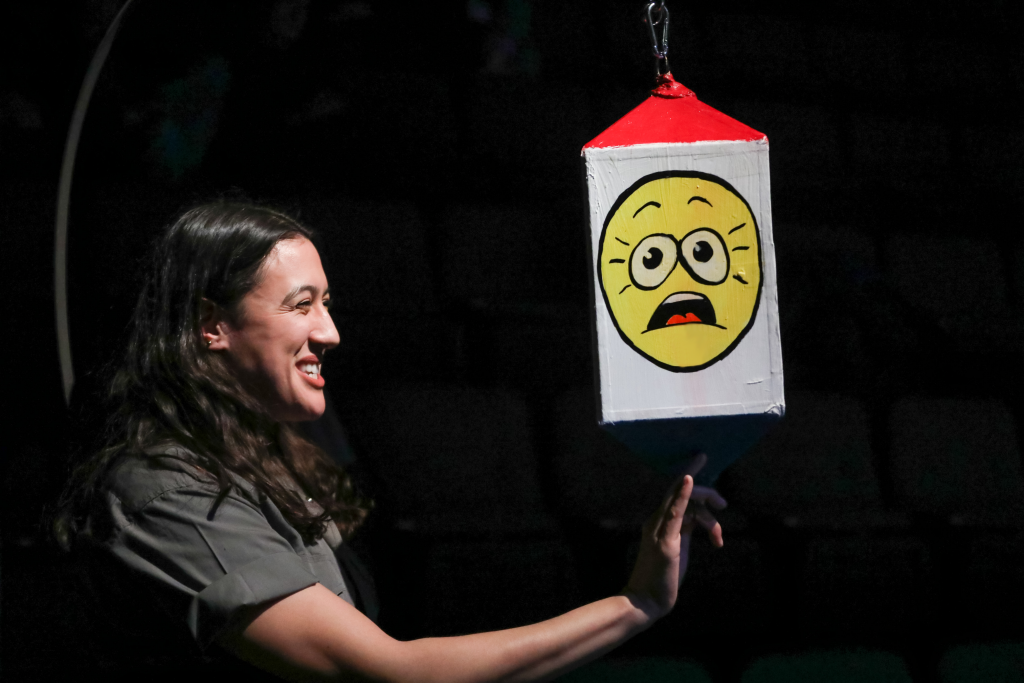 Emily Bosco as Friendship in EVERYBODY at at PlayMakers. By Branden Jacobs-Jenkins. Directed by Orlando Pabotoy. HuthPhoto