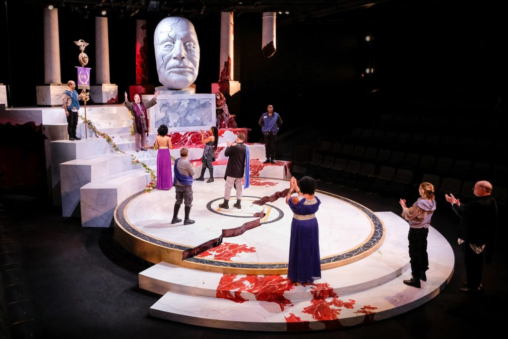 The cast of Julius Caesar at PlayMakers. By William Shakespeare. Directed by Andrew Borba. HuthPhoto.